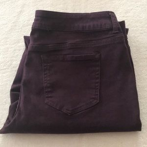Maurice's wine colored Jegging size large